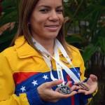 Angie González obtuvo el primer lugar en la categoría damas en el XXI Clásico Ciclistico de La Candelaria