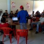 Discutiendo lineas directas  de caracas a la juventud. Diego Ibarra-mariara