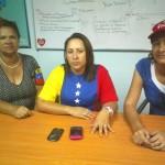 En la gráfica se observan a las dirigentes de mujeres del GPP  Blanca Rodríguez , Maritza León, Iraida Villegas.