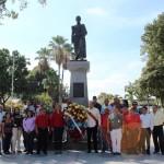 Alcalde de San Joaquín acompañado de sus tren direccional en los actos del 4F