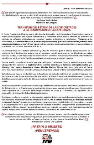 Comunicado Oficial del FFMl